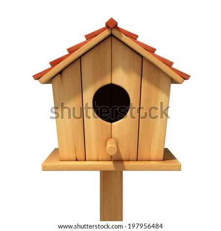 bird house 3d illustration - stock photo