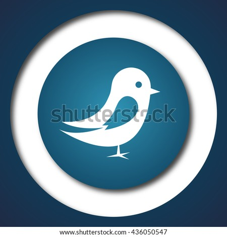 Bird icon. Internet button on white background.