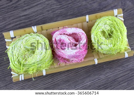 bird nest candy - stock photo
