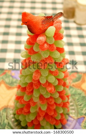 Bird on top of Gumdrop Tree