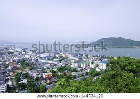 bird's eye view, Songkhla South of Thailand - stock photo