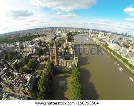Bird's-Eye Views of London - stock photo