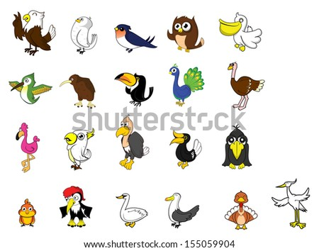 Bird set  - stock photo