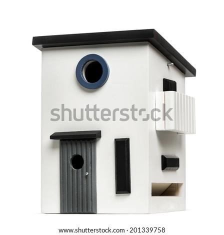 birdhouse isolated on white - stock photo