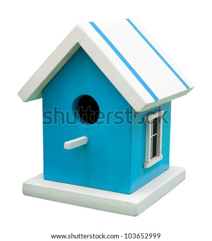 Birdhouse isolated on white. Clipping path included.