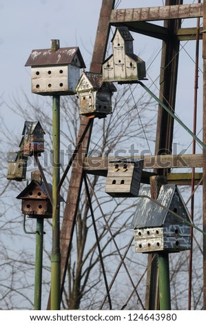 Birdhouses - stock photo