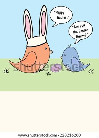 Birds - Easter - stock photo