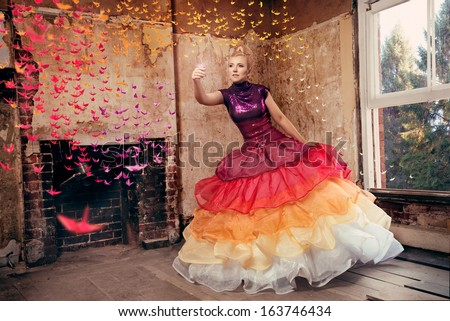 Birds of a feather flock together fashion image - stock photo