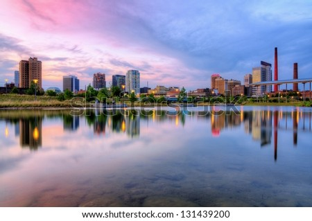 Birmingham, Alabama downtown skyline. - stock photo
