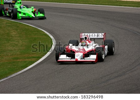 Birmingham Alabama USA - April 10, 2011: #18 James Jakes (R), United Kingdom Dale Coyne Racing,  Grand Prix of Alabama.