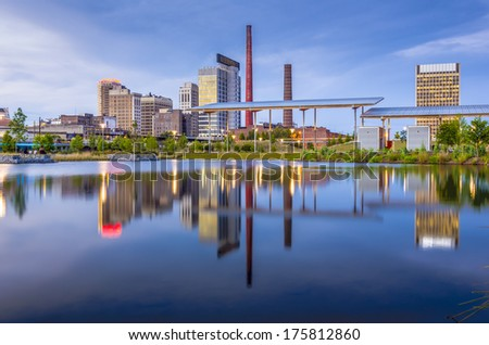 Birmingham, Alabama, USA city skyline. - stock photo