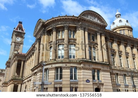 Birmingham Museum and Art Gallery with famous Big Brum clock tower. West Midlands, England. - stock photo