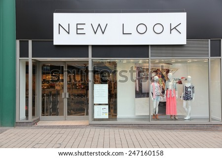 BIRMINGHAM, UK - APRIL 19, 2013: New Look fashion store in Birmingham, UK. New Look is a British high street fashion retailer with 1,160 stores worldwide (2014). - stock photo