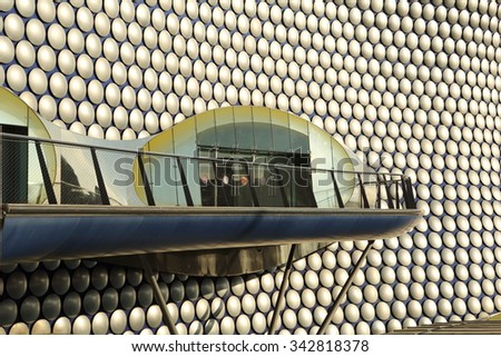 Birmingham, UK - 21 Nov 2015: The Bullring Shopping Centre in Birmingham includes a branch of Selfridges.  - stock photo