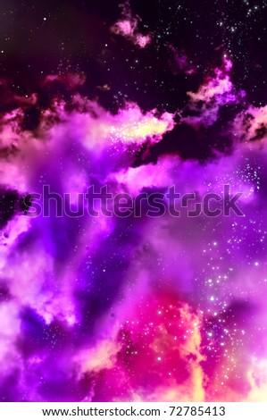 birth of a new nebula after the supernova explosion - stock photo