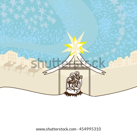 birth of Jesus  - stock photo
