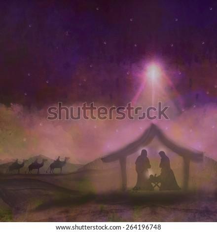 birth of Jesus in Bethlehem - stock photo