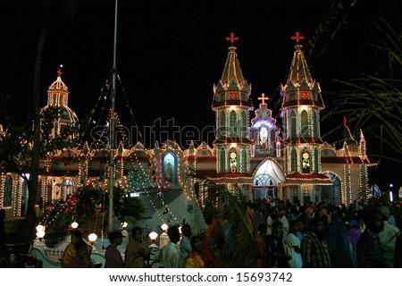 birth of Mary festival - stock photo