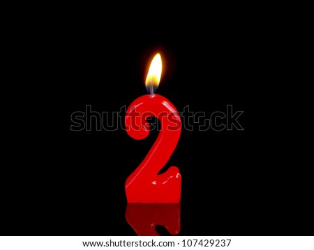 Birthday-anniversary candles showing Nr. 2