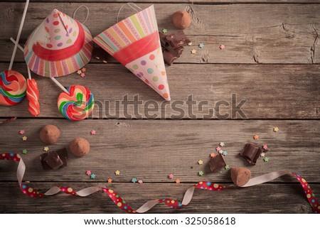 birthday background - stock photo