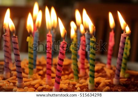 Birthday Cake Burning Candles Stock Photo 47829730 Shutterstock