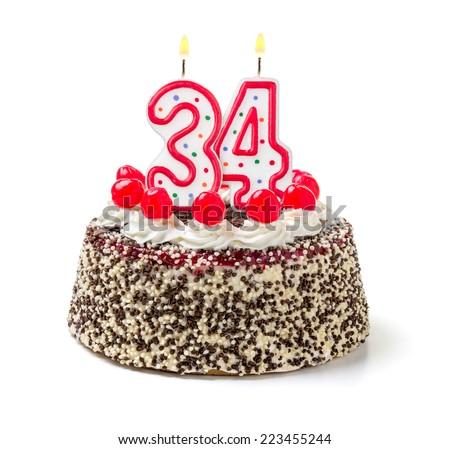 34 birthday cake