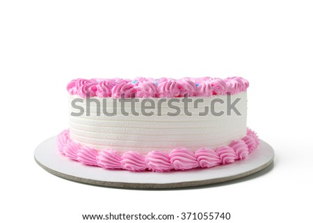 birthday cake with clipping path - stock photo