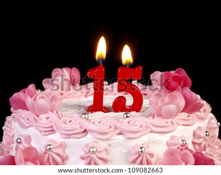 Candles Stock Images RoyaltyFree Images  Vectors Shutterstock - 15 year birthday cake