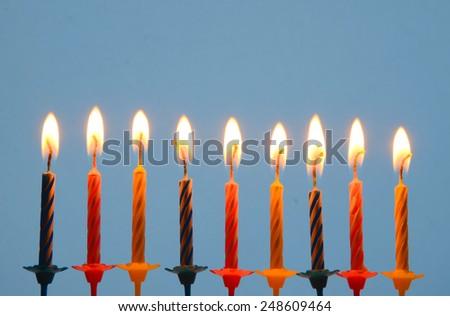 Birthday candles - stock photo