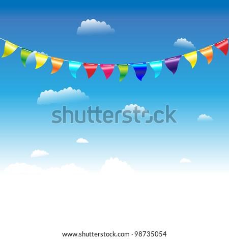 Birthday Flags - stock photo