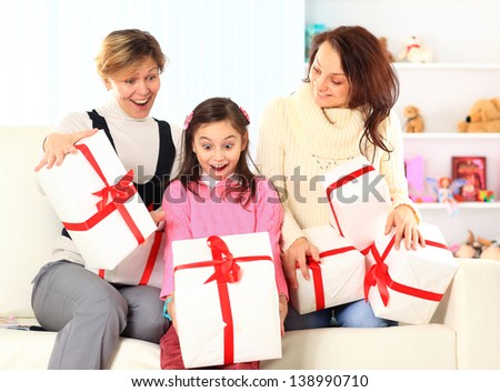 Birthday gifts. - stock photo