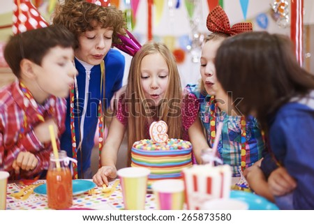 Birthday party can't be held without the cake with candle - stock photo