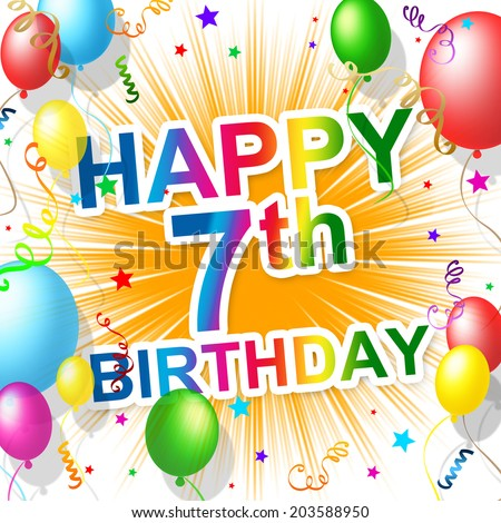 7th birthday stock photos images amp pictures shutterstock