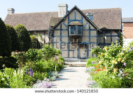 birthplace of William Shakespeare, Stratford-upon-Avon, Warwickshire, England - stock photo