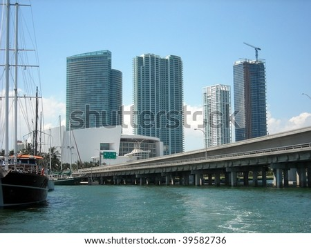 Biscayne Wall and Port of Miami Bridge