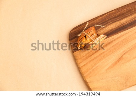 Biscotti on the cutting board as background