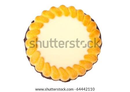 Biscuit isolated on a white background - stock photo