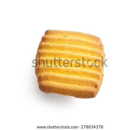 Biscuit isolated on white background - stock photo