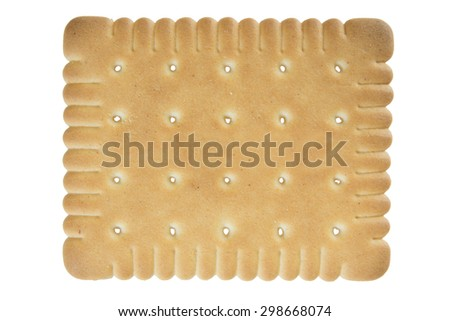 Biscuit isolated on white background / Biscuit - stock photo