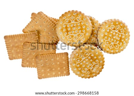 Biscuit isolated on white background / Biscuits