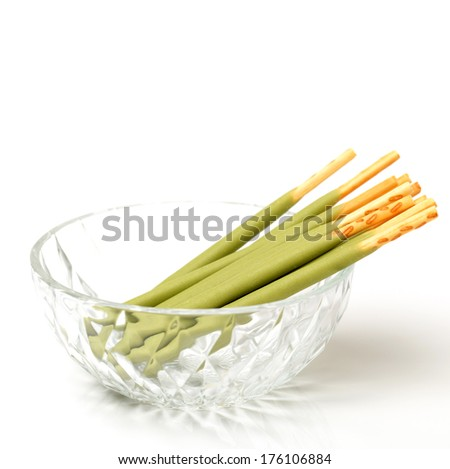 Biscuit Stick on white background  - stock photo