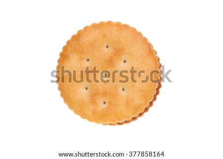 Biscuit Texture Closeup Details Isolated On White - stock photo