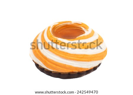 biscuit with souffle on a white background - stock photo