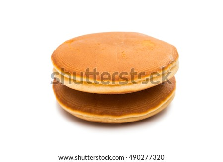 biscuit with strawberry filling on a white background