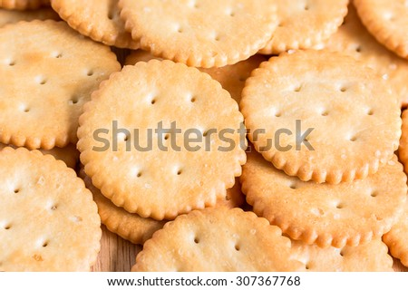 Biscuits background , selective focus
