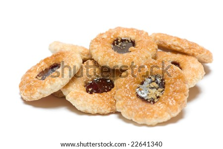 Biscuits isolated on the white background