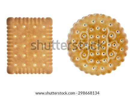 Biscuits isolated on white background / Biscuits - stock photo