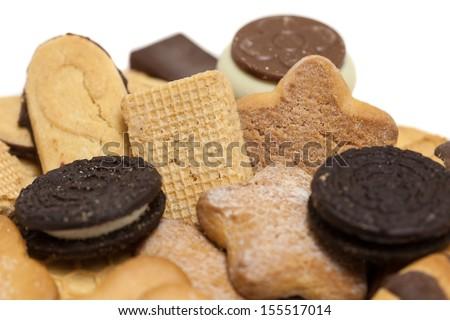 biscuits mix closeup - stock photo