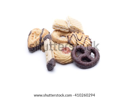 biscuits perfect for both breakfast and aperitif - stock photo