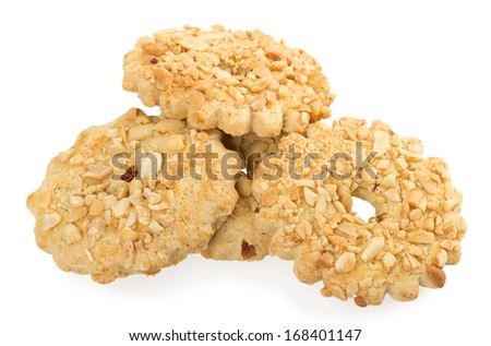 biscuits sprinkled with nuts